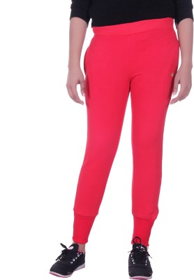 Rafters Solid Women's Red Track Pants