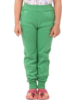 Vostro Moda Printed Girl's Green Track Pants