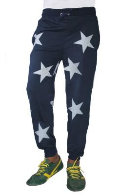 Trustedsnap Printed Men,s Blue Track Pants