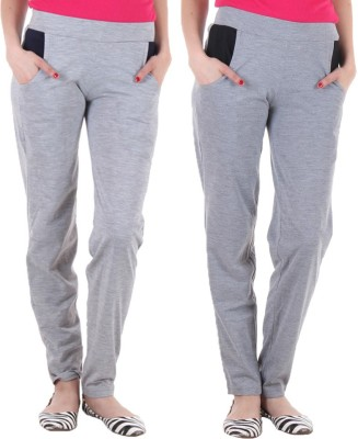Coaster Solid Women's Grey, Grey Track Pants