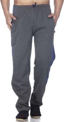Demokrazy Striped Men's Grey Track Pants