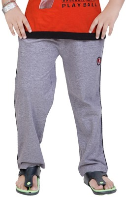 Mint Solid Boy's Grey Track Pants