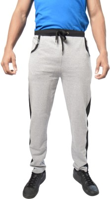 Hueman Softened Cotton Solid Men's Grey Track Pants