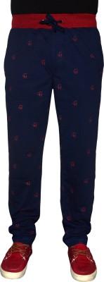 Crux&Hunter Printed Men's Blue Track Pants