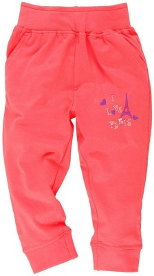 Oye Printed Girl's Orange Track Pants