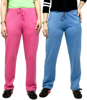 By The Way Solid Women's Purple, Blue Track Pants
