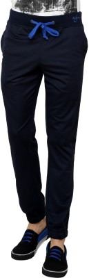 Wear Your Mind Chain Lower Solid Men's Dark Blue Track Pants