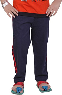 Mint Solid Boy's Blue, Red Track Pants