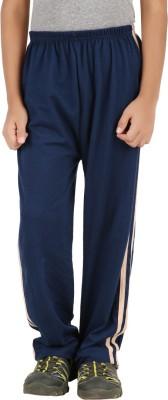 Meril Solid Boy's Dark Blue Track Pants