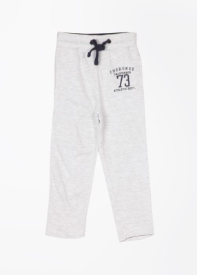 Cherokee Solid Boy's Grey Track Pants
