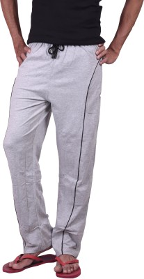 Genx Solid Men's Grey Track Pants