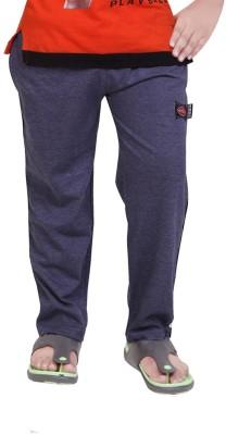Mint Solid Boy's Blue Track Pants