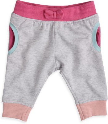 Mothercare Solid Baby Girl's Grey Track Pants