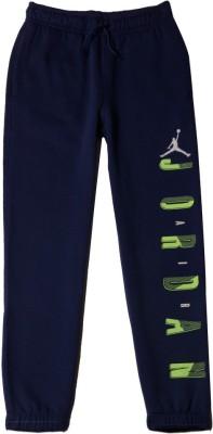 Jordan Kids Solid Boy's Dark Blue Track Pants