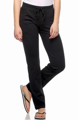 Fasnoya Solid Women's Black Track Pants