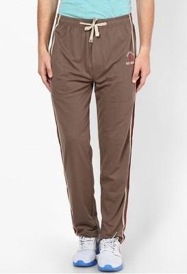 Riverstone Solid Men's Brown Track Pants