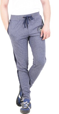 Broken News Printed Men's Blue Track Pants