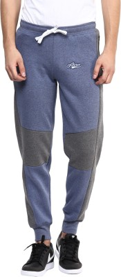 Atorse Solid Men,s Blue Track Pants