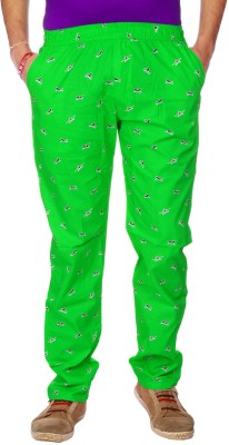 AADUKI Printed Men's Green Track Pants