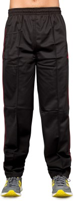 Ocra Sports Solid Men's Black, Red Track Pants