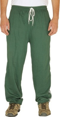 Green House Self Design, Solid Men's Green Track Pants