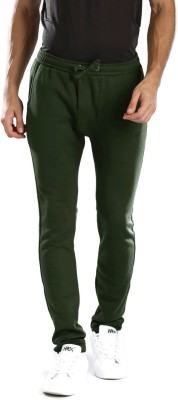 HRX by Hrithik Roshan Solid Men's Green Track Pants at flipkart
