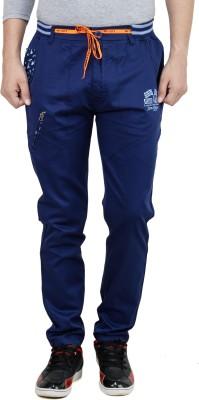 Leg-In Solid Men's Blue Track Pants