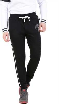 Broken News Printed Men's Black Track Pants
