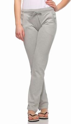 Fasnoya Solid Women's Grey Track Pants