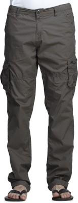 Beevee Solid Men's Green Track Pants