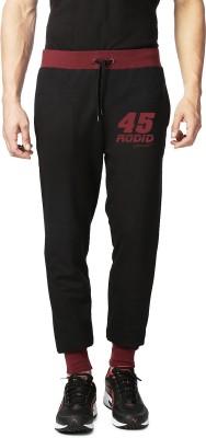 Rodid Solid Men's Black Track Pants
