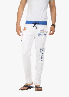 Wear Your Mind Graphic Print Men's White Track Pants