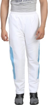 Trendy Trotters Solid Men's White Track Pants