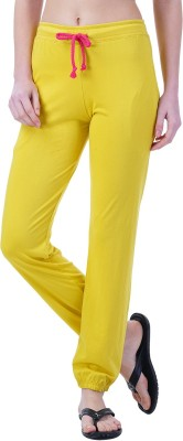 Wake Up Competition Solid Women's Yellow Track Pants