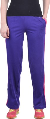 Dollar Missy Solid Women's Purple Track Pants at flipkart
