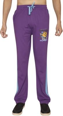 Red Line Solid Men,s Purple Track Pants