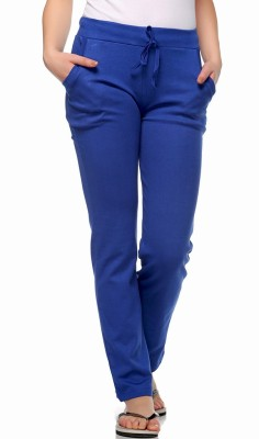 Fasnoya Solid Women's Blue Track Pants