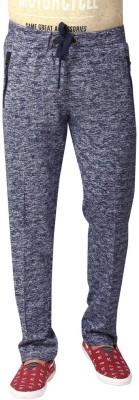YOO Solid Men's Blue Track Pants