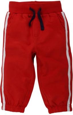 Babyoye Solid Boy's Red Track Pants