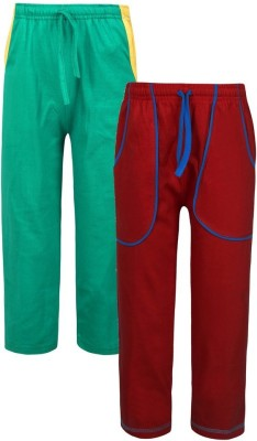 Jazzup Solid Boy's Red, Green Track Pants
