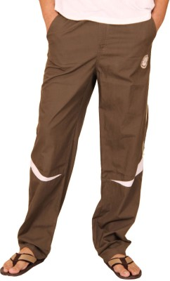 Clickroo Solid Men's Brown Track Pants