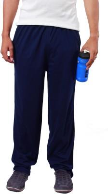 WRIG Solid Men's Blue Track Pants