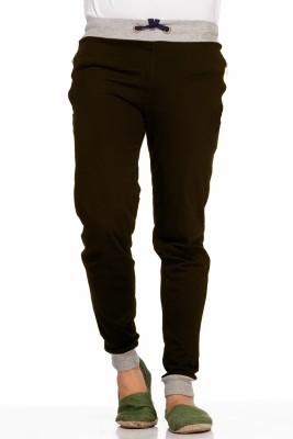 Demokrazy Solid Men's Brown Track Pants