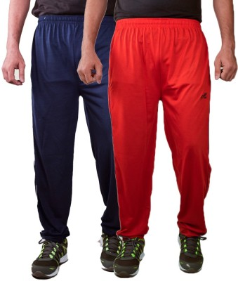 Ave Solid Men's Blue, Red Track Pants