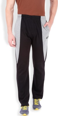 2go Solid Men's Black, Grey Track Pants