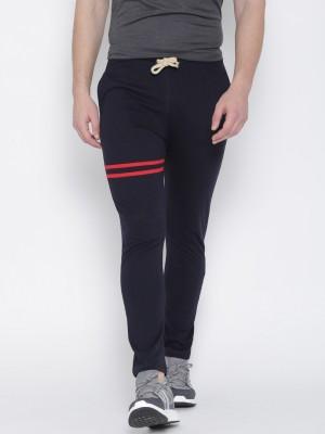 Hubberholme Solid Men's Dark Blue Track Pants