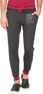 Campus Sutra Printed Men's Grey Track Pants
