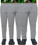 Huggers Solid Men's Grey Track Pants