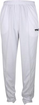 TK Premium Embroidered Men's White Track Pants