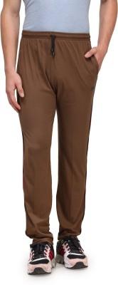 Alfa Plus Premium Solid Men's Brown Track Pants